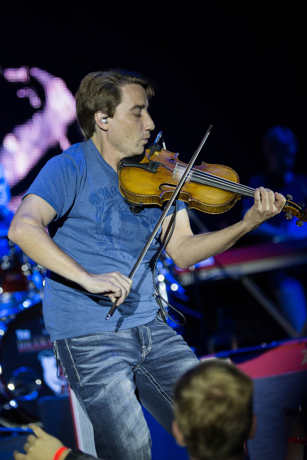 Justin Williamson plays the fiddle and mandolin in Paisley's current band. He played with Paisley at the concert in Gampel on Friday, Oct. 7. (Jackson Hanks/The Daily Campus)
