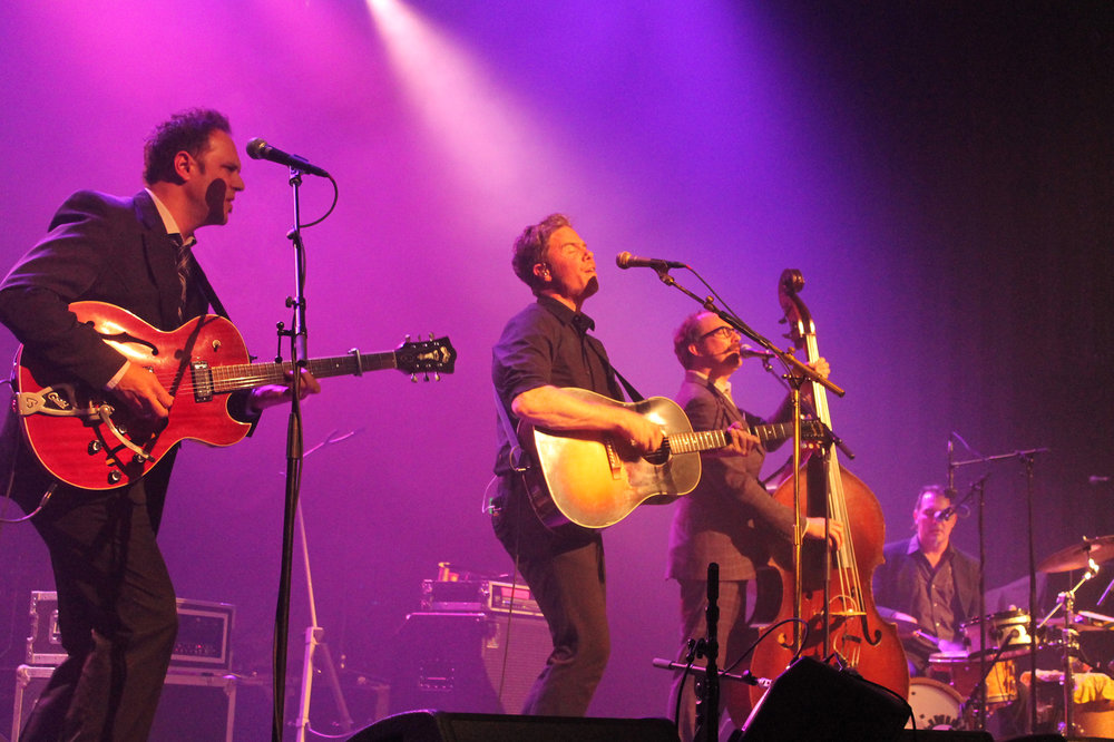 Josh Ritter and Jason Isbell performing at the College Street Music Hall in New Haven on Saturday, Oct. 8. (Christopher Mueller/The Daily Campus)