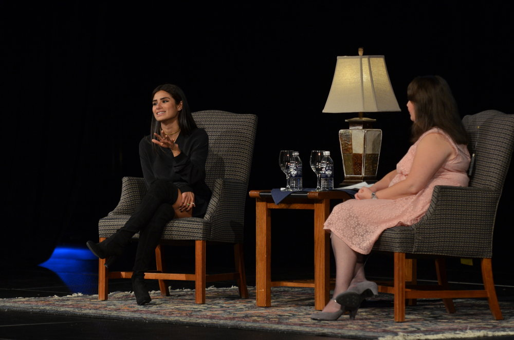 "PRLACC and SUBOG hosted a heartwarming and candid discussion with Diane Guerrero at Jorgensen Tuesday night. Guerrero is best known for her roles on hit shows ""Orange is the New Black"" and ""Jane the Virgin."" (Akshara Thejawsi/The Daily Campus"