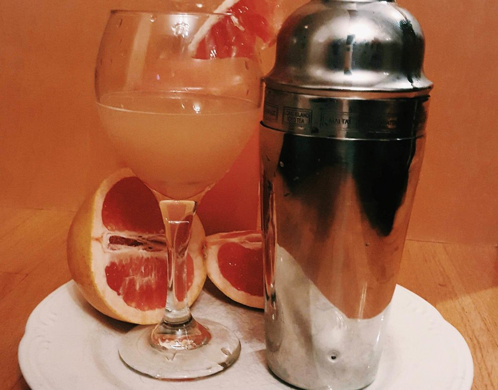 This grapefruit martini provides the perfect combination of sweet and sour for a fruity transition from the pumpkin, apple and cinnamon flavors that are so popular this time of year. (Megan Krementowski/The Daily Campus)