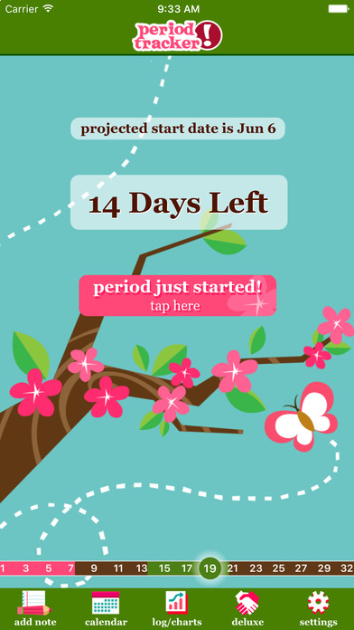 Period Tracker lite utilizes emoji-style icons to track emotions while users are on their period, and even has a daily birth control pill reminder. (Courtesy/Period Tracker lite)