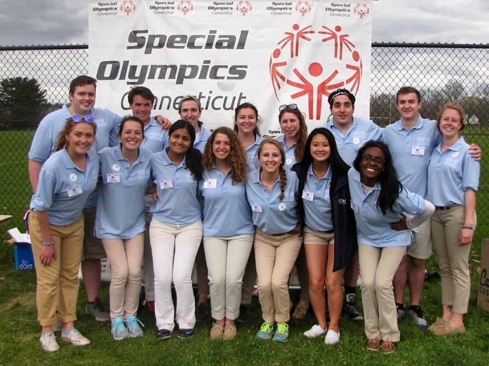Jeffny Pally, third from the left in the bottom row, was a committee member for the Special Olympics event Husky Classic and a rising member of UConn Community Outreach. She was a 19-year-old a sophomore from West Hartford. (Courtesy/Jessica Oknin)