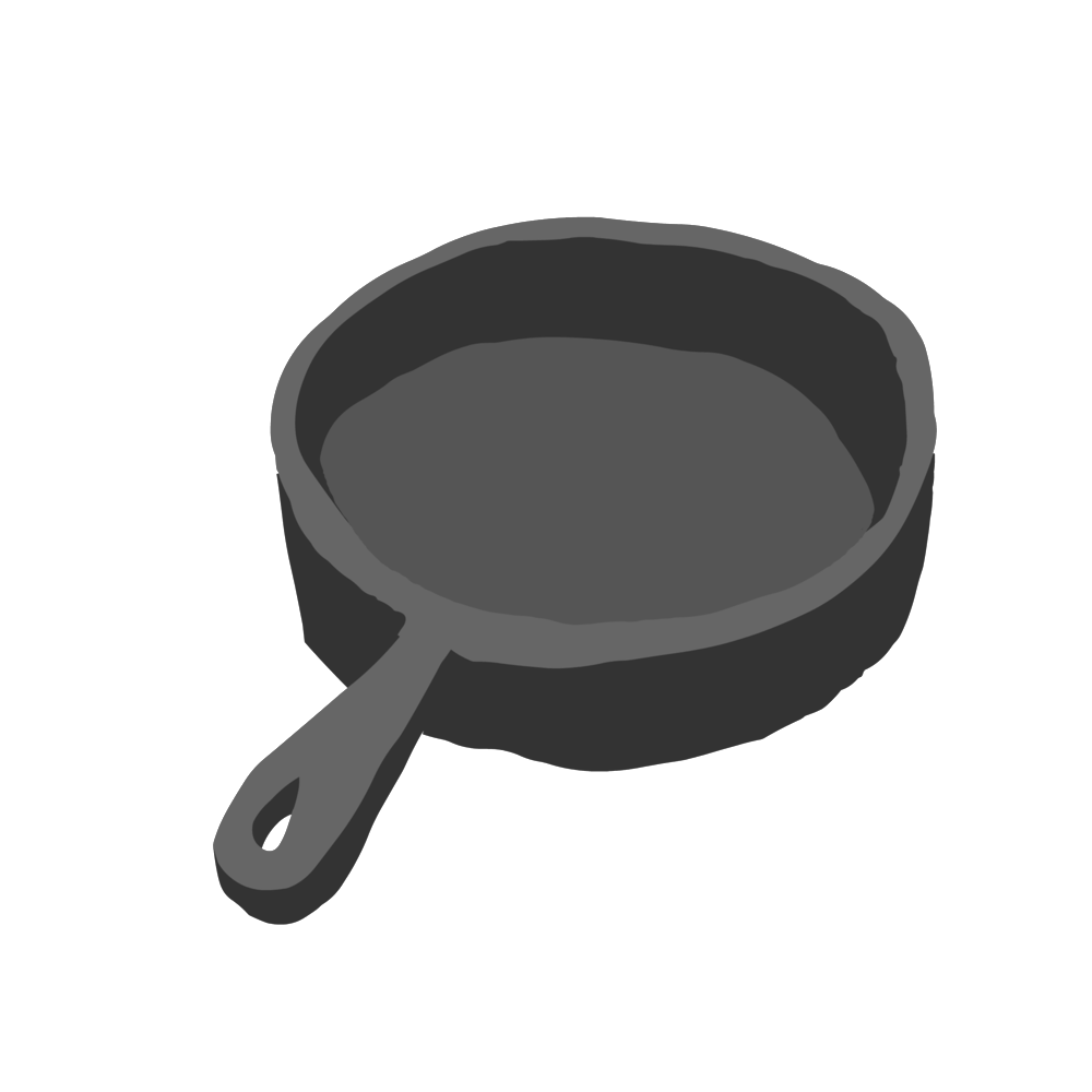 Cast iron skillets have been a staple of American cuisine for hundreds of years. We will explore why this cooking vehicle been the pan of choice from frontiersman to housewives, and how can one pan help save money and the environment. (Illustration courtesy of Alex Wood)