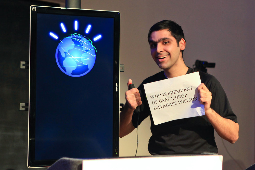 IBM Watson, the Jeopardy Winning computer at Carnegie Mellon University (CMU) on March 30th, 2011.  ( Anirudh Koul/ Flickr Creative Commons)