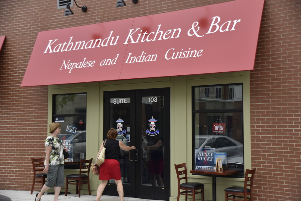 Kathmandu Kitchen & Bar, photographed here on August 31, 2016, is one of the restaurants in Storrs Center that recently partnered with GroupRaise. (Grant Zitomer/The Daily Campus)