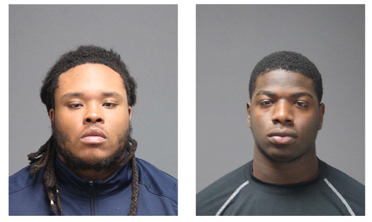 Felton Blackwell and Nazir Williams, both 19 of the UConn football team, were arrested on Wednesday, Oct. 19, 2016. (Courtesy/UConn Police)