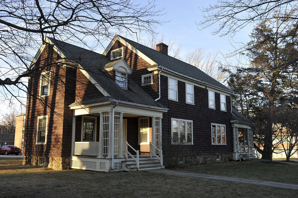 "The nine brown houses that make up the almost 100-year-old ""Faculty Row"" are planned to be demolished in favor of a new park.  (Amar Batra/The Daily Campus)"