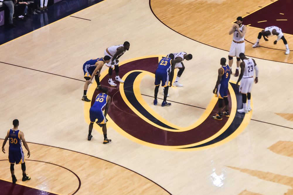 In this June 16, 2016 NBA finals game the Cavaliers played the Warriors at the Q Arena.  The Cavaliers won 115- 105. (Erik Drost/ Flickr Creative Commons)