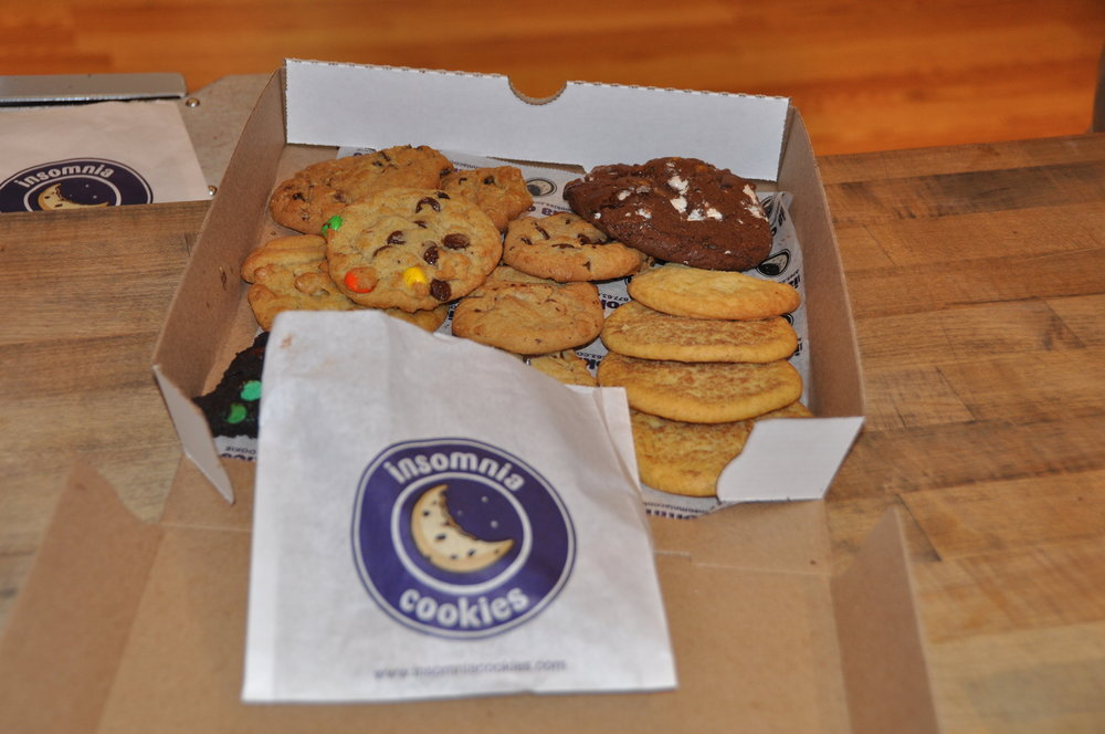 Today insomnia cookies will offer one free cookie with any purchase. This offer is valid starting today at 9 a.m. and ends tomorrow at 3 a.m. (Carl Lender/Flickr Creative Commons)