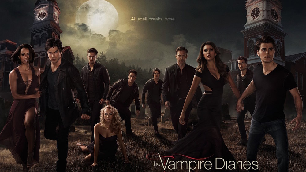 "A photo of the cast of the sixth season of ""The Vampire Diaries."" (Photo courtesy Wikimedia Commons/Creative Commons)"