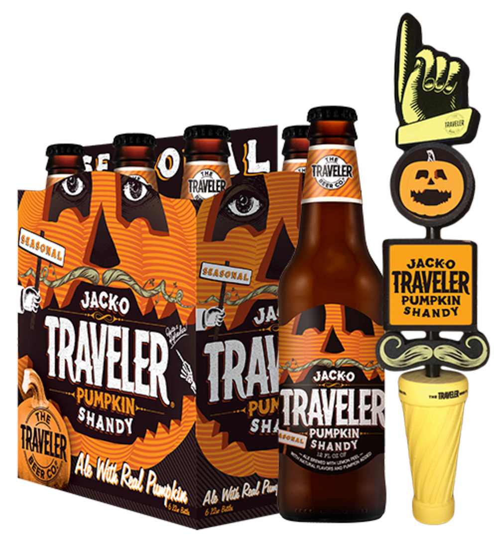 The Traveler Beer Company's Jack-O-Traveler Pumpkin Shandy is a seasonal shandy and can be purchased from Price Chopper in Storrs Center. (Courtesy of the Traveler Beer Company)