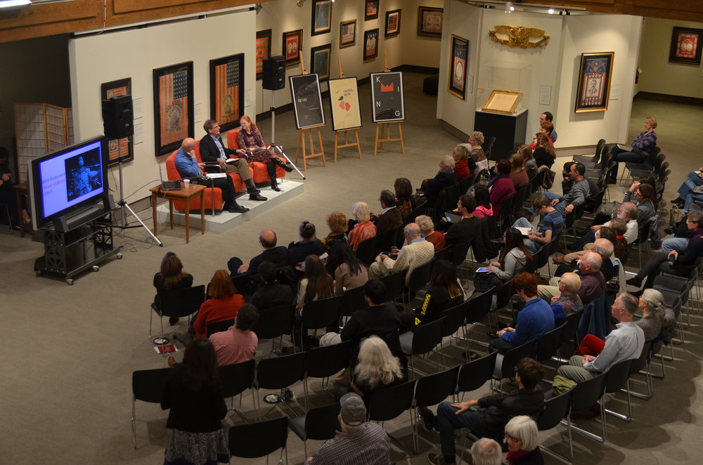 The Benton hosted a lively discussion on Friday, October 28, on the cultural, linguistic, and social legacies of Shakespeare's works. The discussion was moderated by Greg Semenza, an English professor at UConn; the featured panelists included Lindsay Cummings, a Theatre Studies professor at UConn, and Garrett Sullivan, an English professor from Penn State University. (Akshara Thejaswi/The Daily Campus)