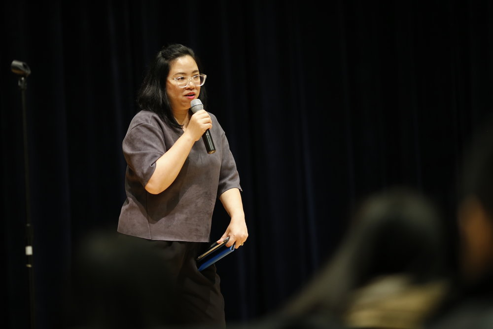 Debut Director of Systems at NAPAWF discusses the state of Asian American and Pacific Island women in the United States with an emphasis on voting and why it should matter. (Tyler Benton/The Daily Campus)