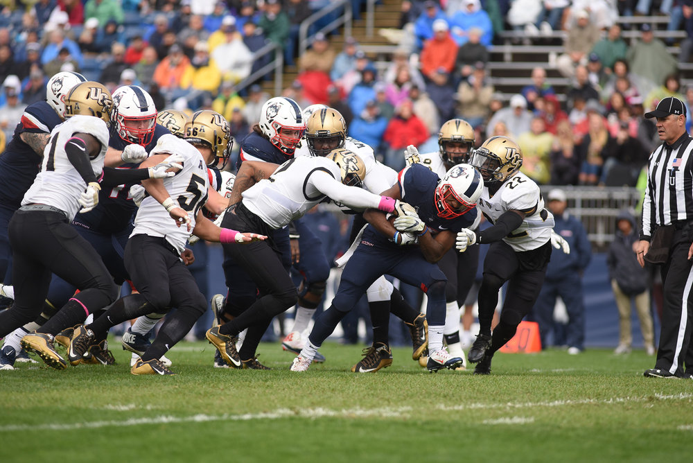 UConn vs UCF at Rentschler Field on Saturday Oct. 23, 2016.  UConn lost 16-24.  Our staff discusses which loss of the season was the worst.  (Zhelun Lang/ The Daily Camps)