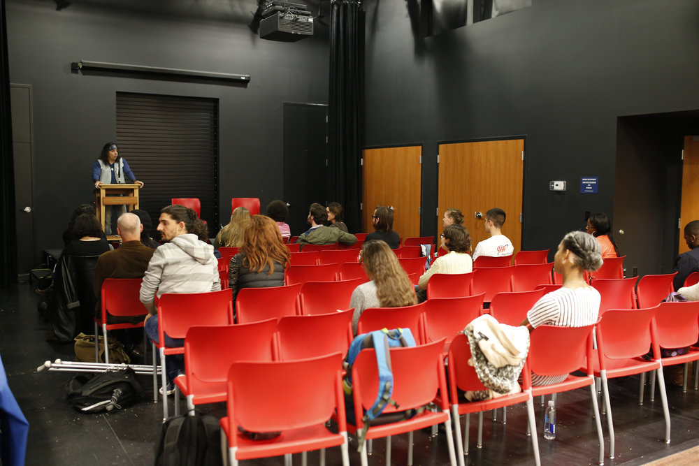 """Cuban Science Fiction writer, Yoss, gives a talk regarding two of his books """"A Planet for Rent"""" and """"Super Extra Grande"""" and had a Q & A with the audience following the talks in Barnes and Nobles in Storrs Center on Thursday afternoon. (Tyler Benton/The Daily Campus)"""