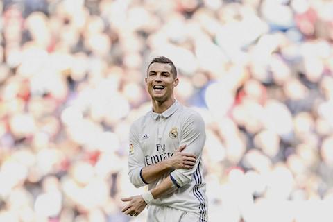 Real Madrid Cristiano Ronaldo reacts during a Spanish La Liga soccer match between Real Madrid and Leganes at the Santiago Bernabeu stadium in Madrid, Spain, Sunday, Nov. 6, 2016. (Daniel Ochoa de Olza/AP Photo)
