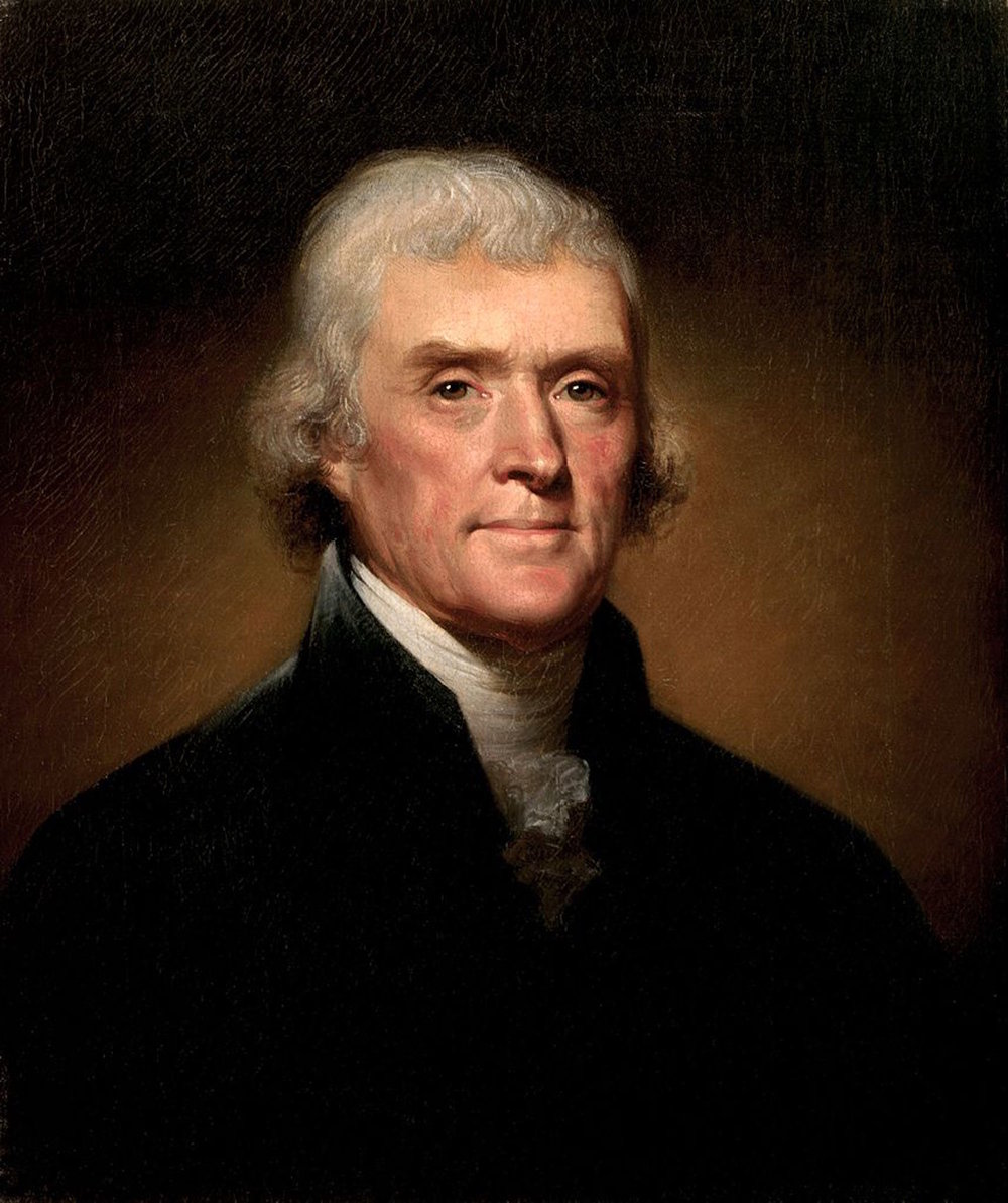 Christopher McDermott would go back in time for a date with Thomas Jefferson. (Courtesy/Google Creative Commons, 1800 portrait by Rembrandt Peale)