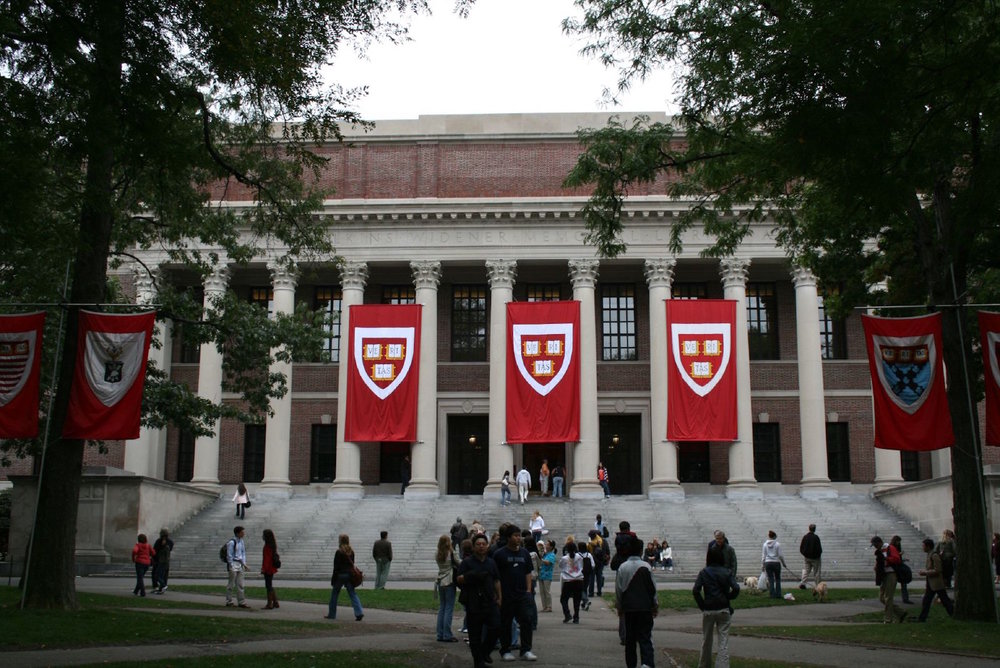 Widener Library at Harvard University. The undergraduate student newspaper at Harvard University reported the existence of a 2012 document in which members of the Harvard men's soccer team objectified and rated incoming women soccer recruits. Photo courtesy of Wikimedia Commons/Creative Commons
