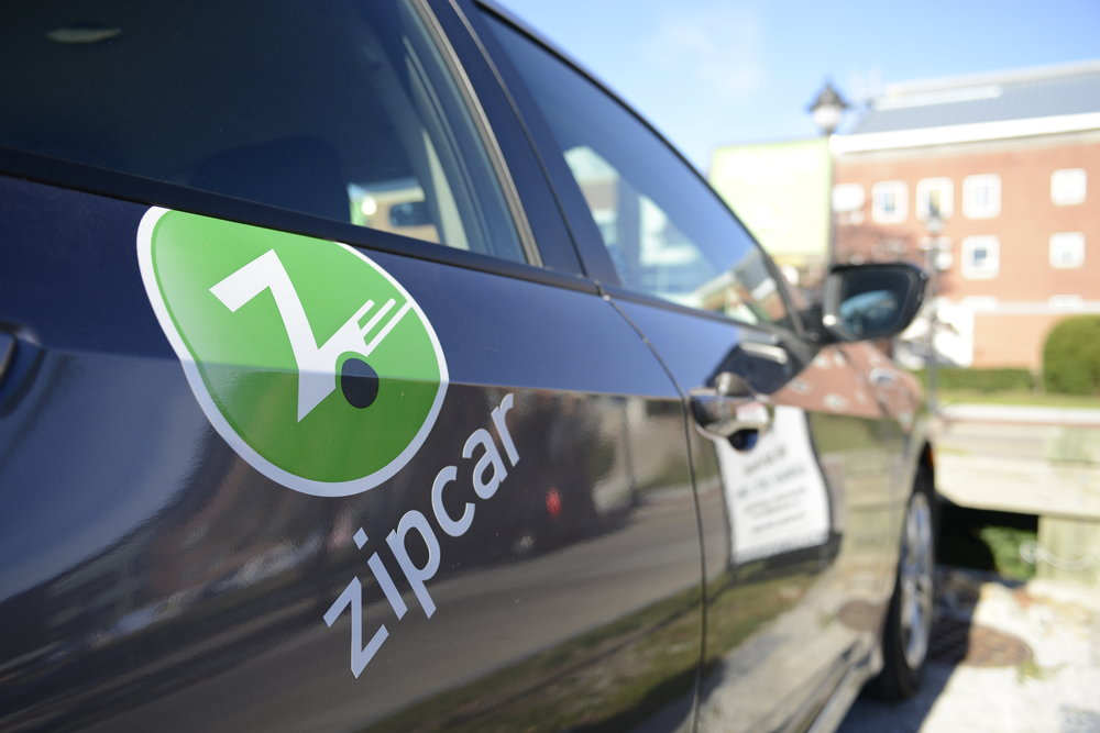Students can rent Zipcars to make their ways to the polls at the Mansfield Community Center tomorrow. (Jason Jiang/The Daily Campus)