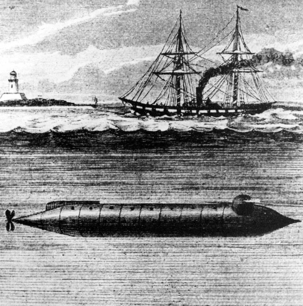 The USS Alligator was the first submarine built and operated by the U.S. Navy. (Photo courtesy of Wikimedia Common)