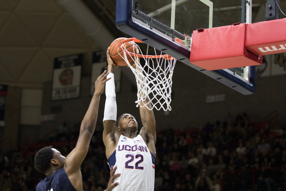 The UConn mens' basketball team defeated Southern Connecticut 94-65 on Saturday Nov. 4, 2016 at Gampel Pavilion. Senior forward Rodney Purvis led all scorers with 19 points.  The Daily Campus sports staff discusses who they anticipate to be this season leading scorer.  (Jason Hagis/ The Daily Campus)