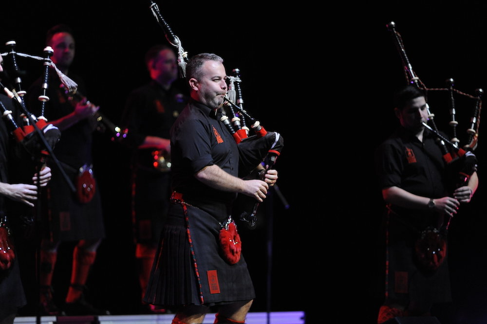 The Red Hot Chilli Pipers puts on a Scottish rock extravaganza in Jorgensen on November 10, 2016. They combine traditional pop music with rock elements which gives the music a modern spin. (Jason Jiang/The Daily Campus)