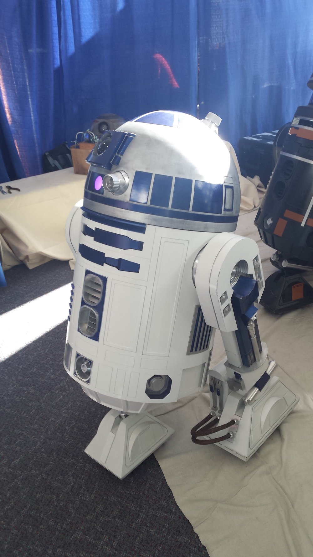 R2-D2 at Rhode Island Comic Con. Photo by Marlese Lessing/The Daily Campus