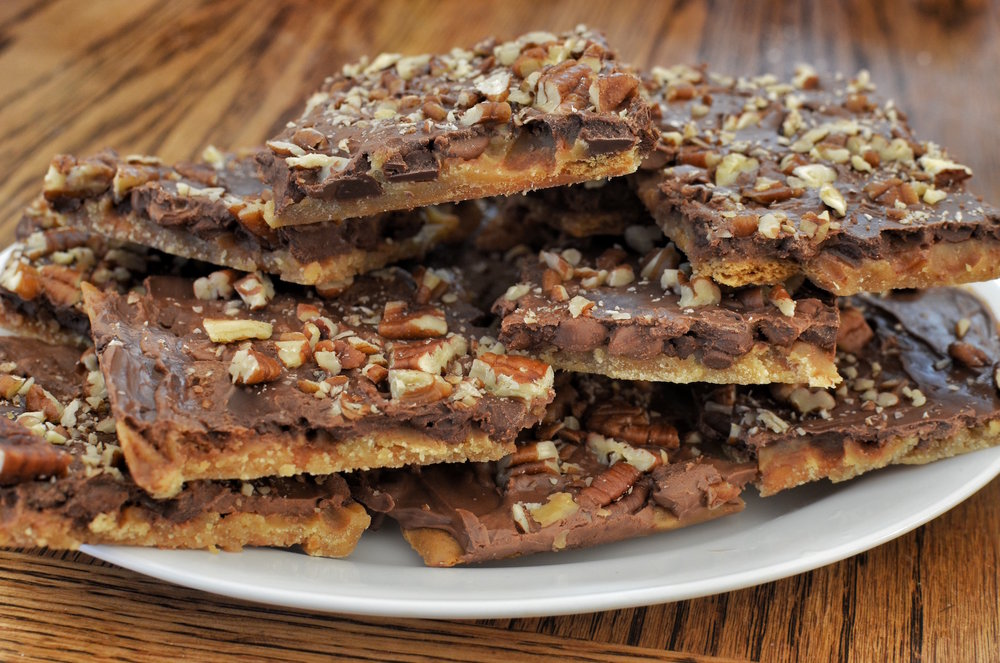 Graham cracker toffee bars, a holiday cookie similar to Galvin's toffee triangles. (jeffreyw/Flickr Creative Commons)