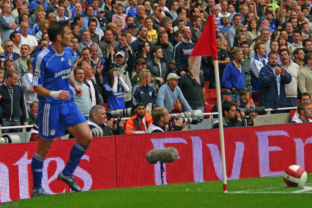 Frank Lampard, back during his days playing for Chelsea. The midfielder announced he would by leaving NYC FC at the end of his contract. (Ronnie MacDonald/Flickr, Creative Commons)