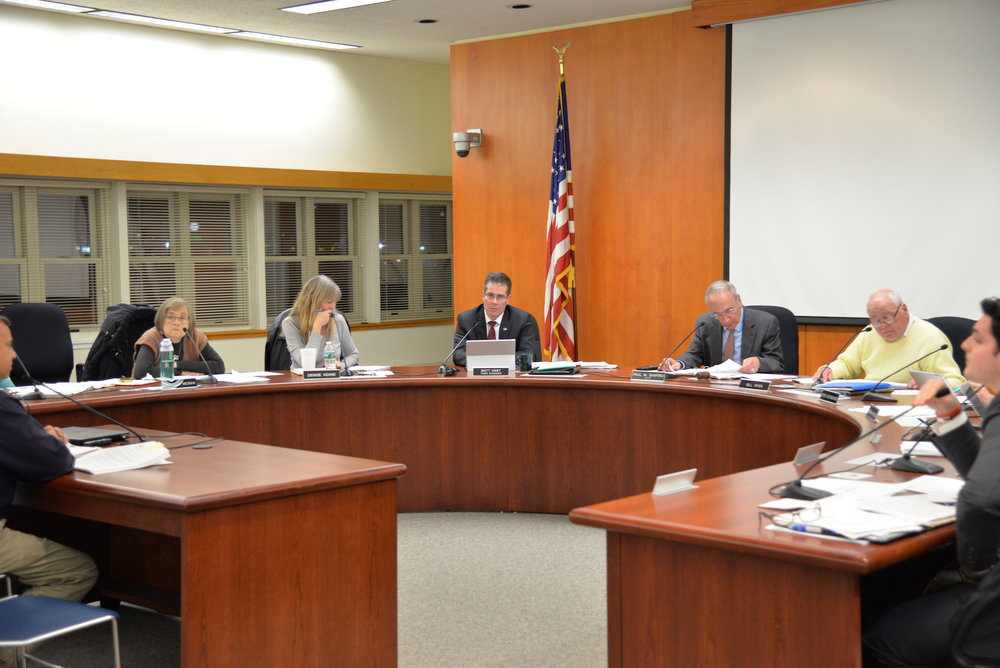 The Mansfield Town council met for their weekly meeting to discuss the buying of a farm match and discussing election referendum results for restoration to the Mansfield Middle School gymnasium. (Amar Batra/ The Daily Campus)