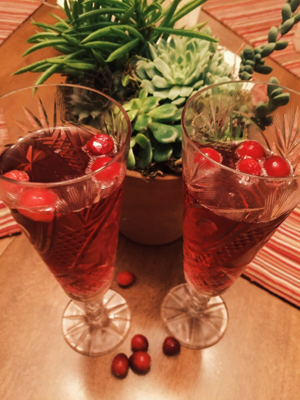 This cranberry berry mimosa makes the perfect drink for the winter holiday season. (Megan Krementowski/The Daily Campus)