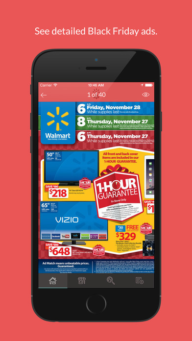 The Black 2016 Ads app gives shoppers the opportunity to make their own virtual shopping list on the most popular shopping day of the year. (Screenshot/iTunes)