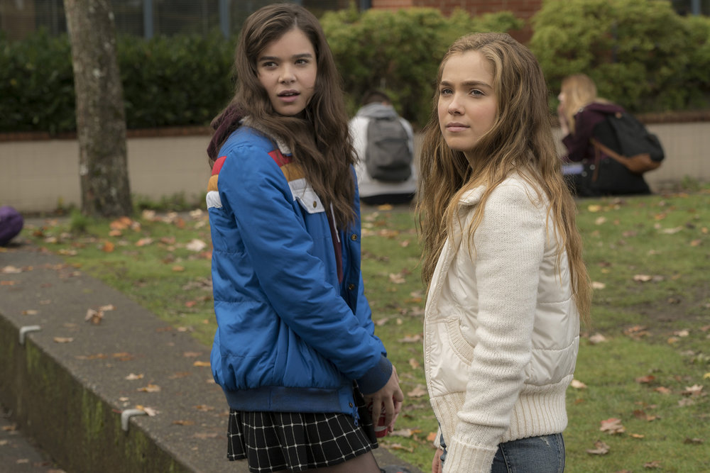 "This image released by STX Films shows Hailee Steinfeld, left, and Haley Lu Richardson in a scene from ""The Edge of  Seventeen ."" (Murray Close/STX Films via AP)"
