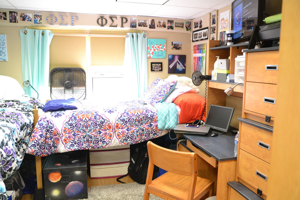 A look inside a dorm room in the Northwest Residential Halls.  The University of Connecticut's Recovery Community (URC) is in the process of organizing a housing option that will be implemented in fall 2017.  (Olivia Stenger/The Daily Campus)