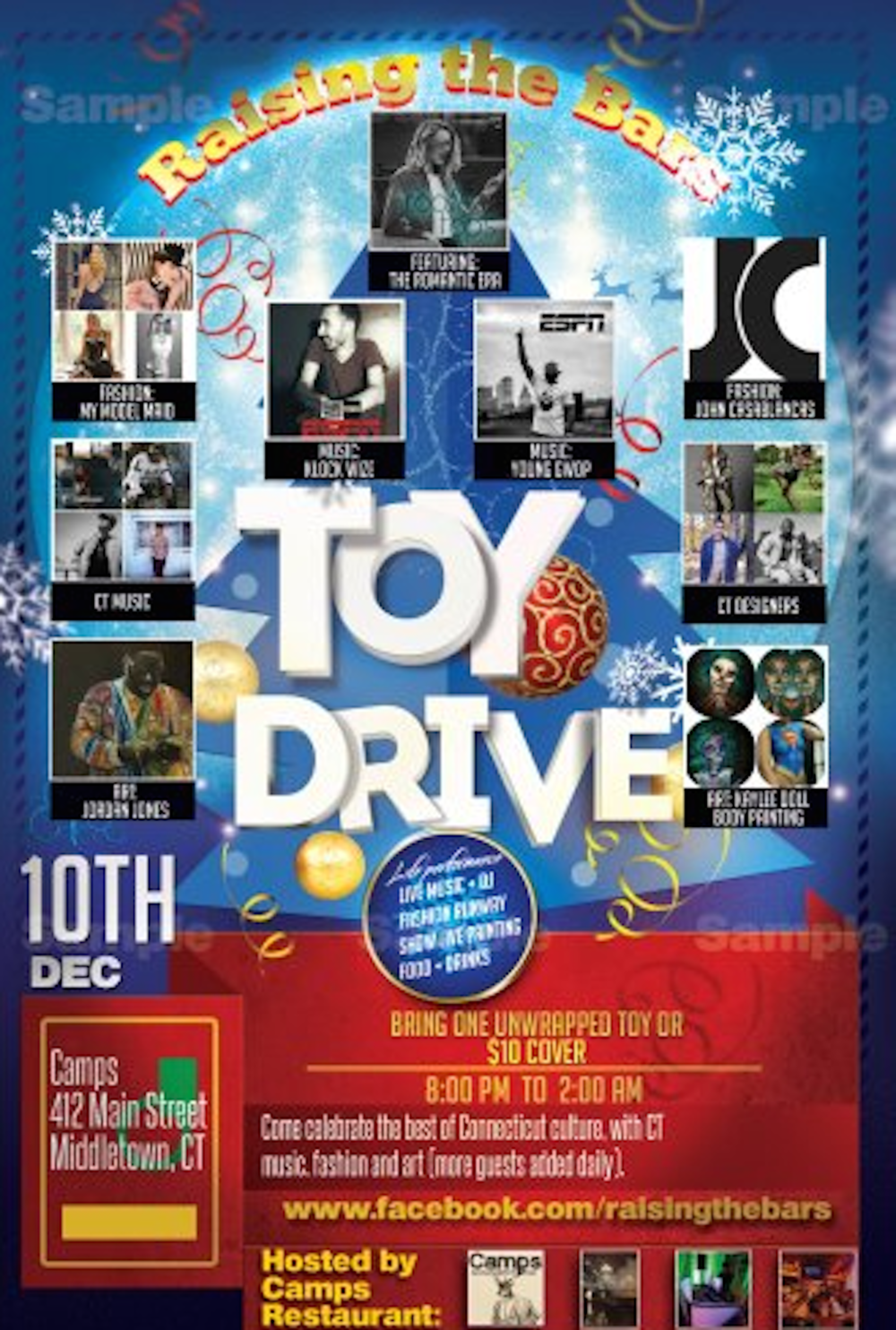 Raising the Bars toy drive will feature a fashion show, musical guests and hip-hop artists to collect gifts for Toys for Tots on Dec. 10 in Middletown, Conn. (Screenshot/Raising the Bars Toy Drive and Concert/Fashion Show)