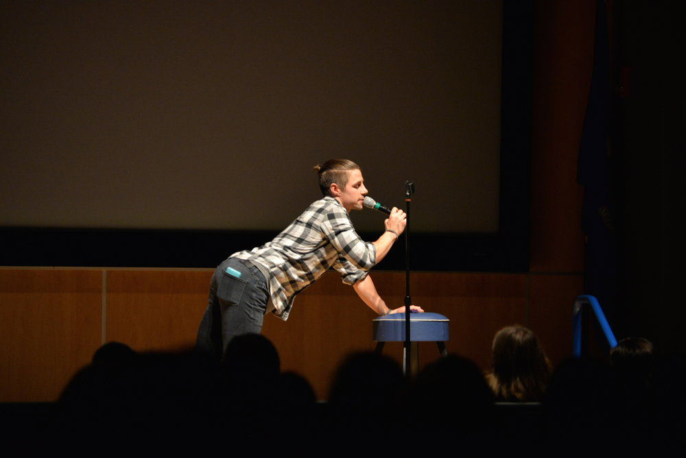 SUBOG welcomed comedian Adam Grabowski to the UConn in the Student Union on Wednesday, Nov. 30, 2016. Grabowski recently performed on America's Got Talent. (Amar Batra/The Daily Campus)