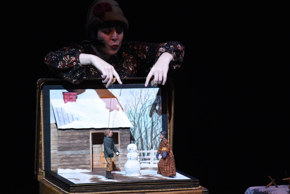 Ballard Institute and Museum of Puppetry had alumna Sarah Frechette perform The Snowflake Man. It is about a man who who became the first person to photograph a single snow crystal. After the show, Sarah Frechette showed her puppets to the kids. (Charlotte Lao/The Daily Campus)