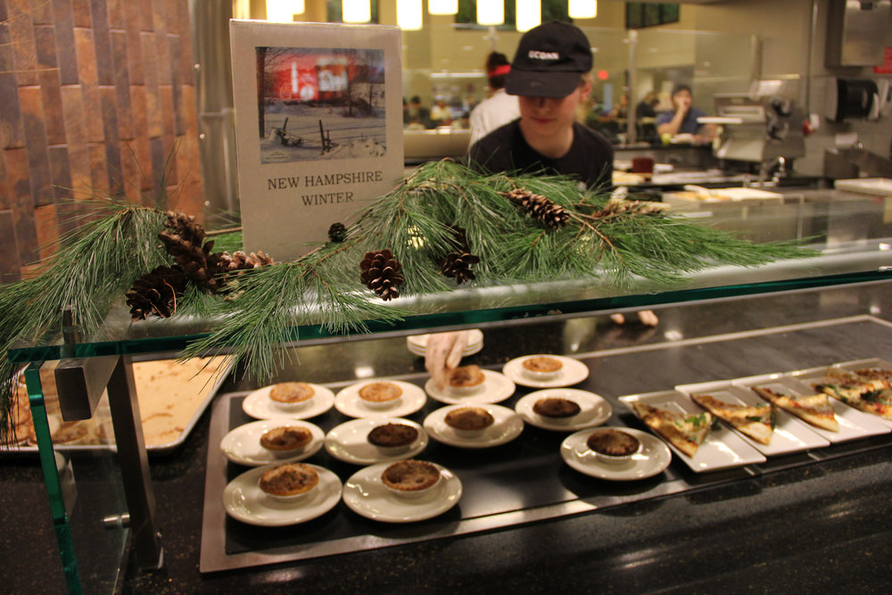Special meals are presented in McMahon Dining Hall for the holidays. Special meals can be found in many dining halls over the next week. (File Photo/The Daily Campus)