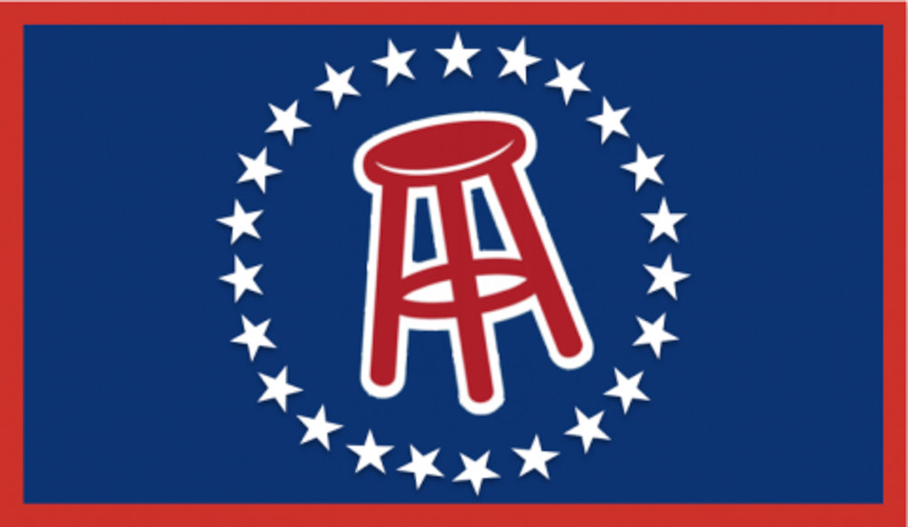 "The banner for the popular Barstool Sports website. The website creates a well-known sports podcast, ""Pardon My Take."" (Wikimedia Creative Commons)"