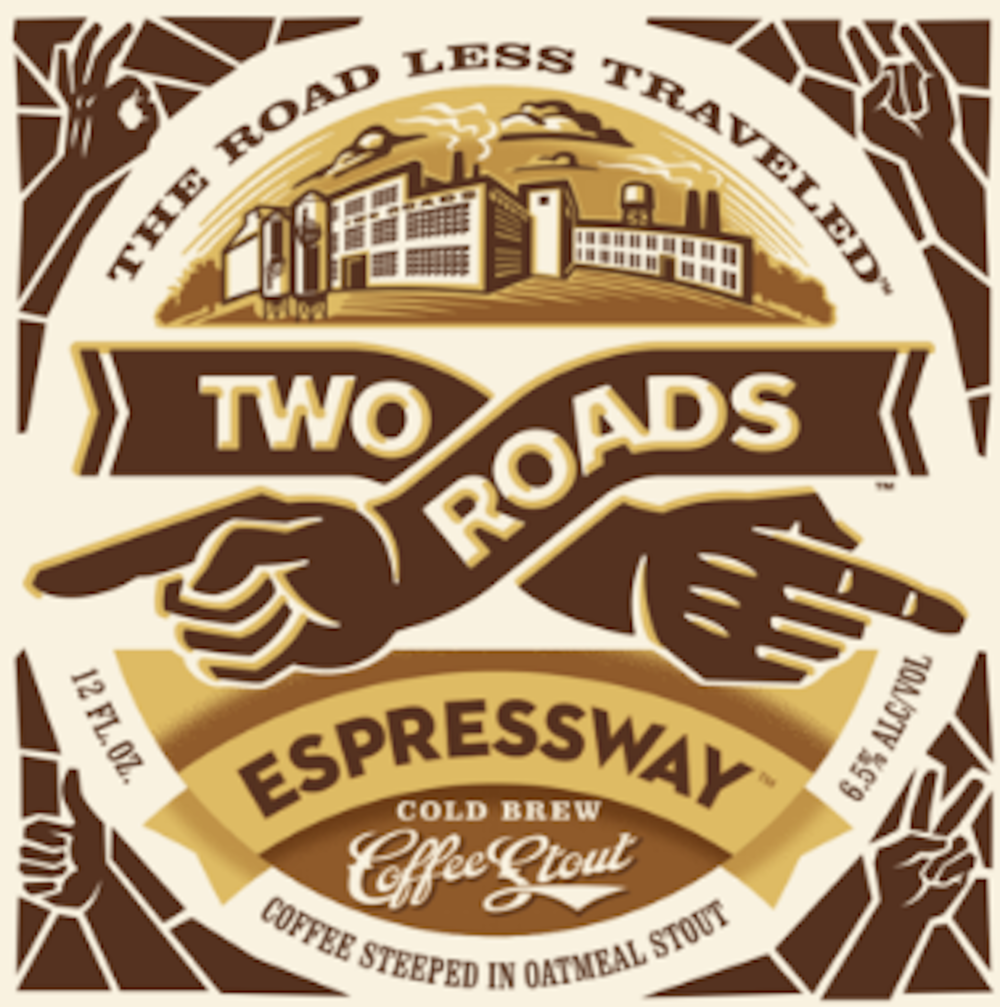 Two Roads Brewing Company's Espresso Stout is a seasonal craft beer than combines locally roasted coffee beans with a rice oatmeal stout for a powerful, cold-brew flavor. (Screenshot/Two Roads Brewing Company)