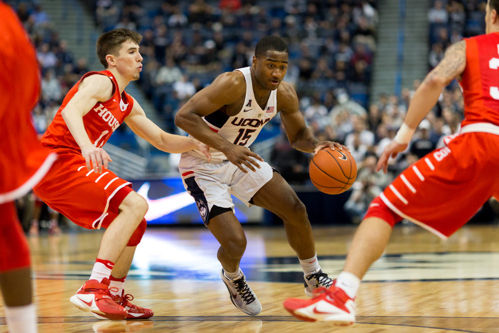UConn guard Rodney Purvis looks to drive past a defender during Wednesday's 62-46 loss to Houston at the XL Center in Hartford. (Tyler Benton, Staff Photographer/The Daily Campus)