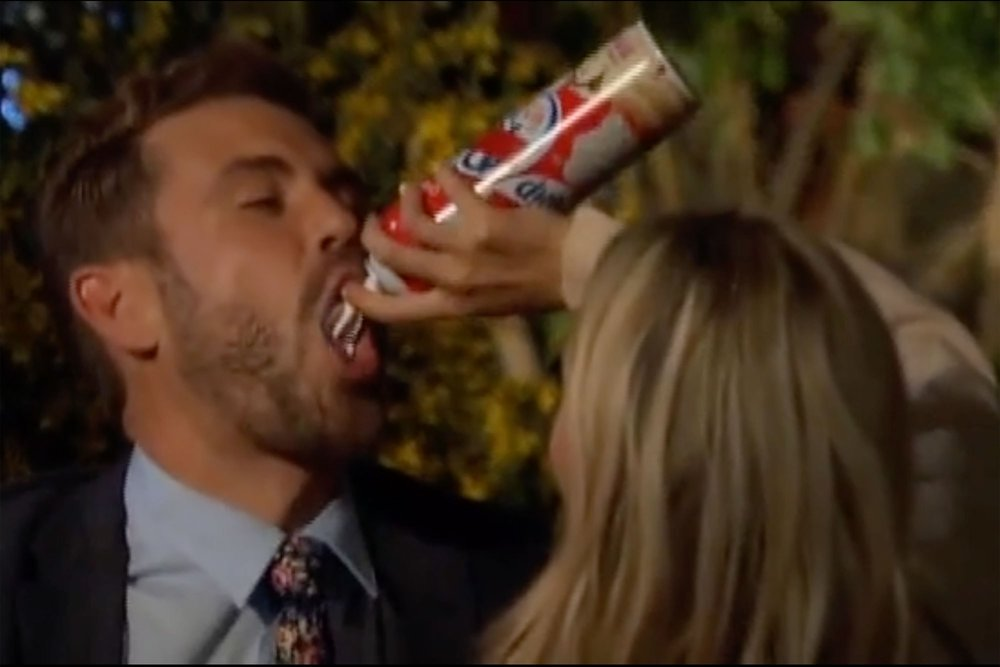 Corinne and Nick during last night's episode. (Screenshot/ABC)