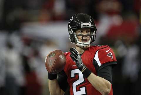 In this Saturday, Jan. 14, 2017 file photo, Atlanta Falcons quarterback Matt Ryan (2) warms up before the first half of an NFL football NFC divisional playoff game between the Atlanta Falcons and the Seattle Seahawks in Atlanta. (John Bazemore/AP)