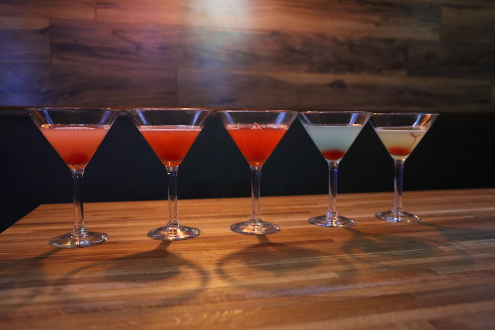 Huskies Bar on the Storrs campus started Martini Wednesdays on Jan. 18, 2017. Six different flavors were introduced, including Blue Dream, Green Apple, Cosmo, Pineapple-Upside Down Cake, Pink Lemonade and Pistachio. (Jackson Haigis/The Daily Campus)