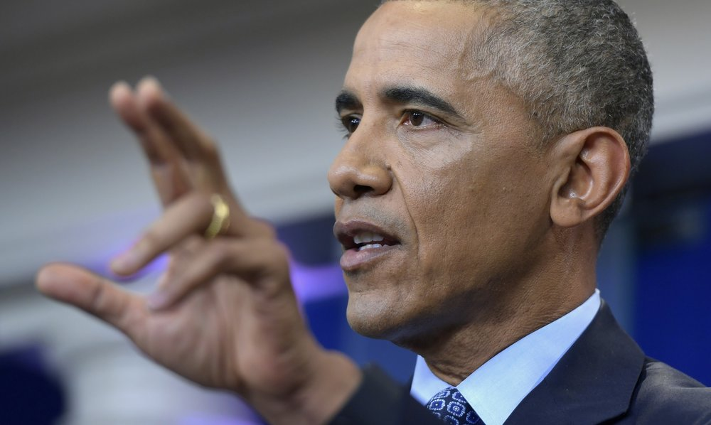 President  Barack   Obama  speaks during his final presidential news conference, Wednesday, Jan. 18, 2017, in the Brady Press Briefing Room at the White House in Washington. (Susan Walsh/ AP)