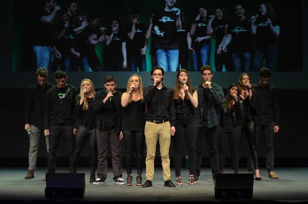 UConn's many a capella groups gathered at Jorgensen Thursday night to perform for the a capella rush concert; the groups will be auditioning new members on Sunday, Jan 29, in the Music Building. (Akshara Thejaswi/The Daily Campus)