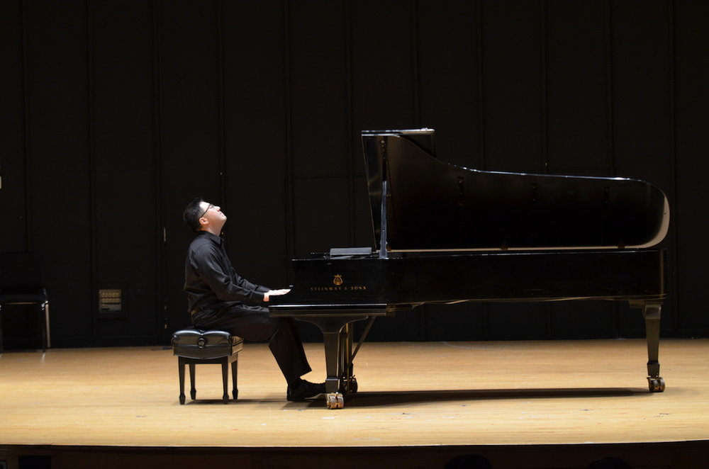 Musical Arts PhD student Mo Tian performs pieces by Liszt, Chopin, and Beethoven on Saturday, January 21, at von der Mehden Recital Hall. Tian has performed throughout both the United States and China in solo concerts and chamber music recitals. (Akshara Thejaswi/The Daily Campus)