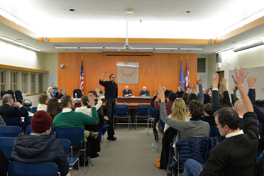 Members of the mansfield community including UConn students attended the weekly Town council meeting in the Town Hall to urge the council to pass an ordinance that would make Mansfield a sanctuary city. (Amar Batra/The Daily Campus)
