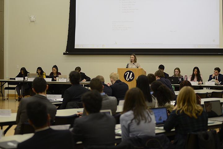 USG holds first senate in the Student Union Ballroom on Wednesday January 25 2017. (Jason Jiang/ The Daily Campus)