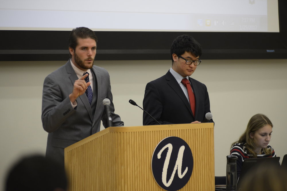 The USG presented their plans for the spring semester on Wednesday, Jan. 25. The plan includes minimizing budget cuts, developing a sustainability gen. ed. requirement and continuing to support undocumented students. (Jason Jiang/The Daily Campus)
